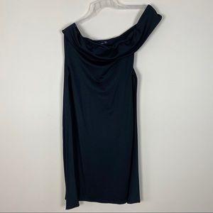 PLT Black One Shoulder Dress